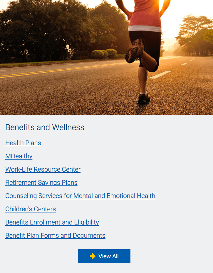 UMHR Benefits and Wellness Section