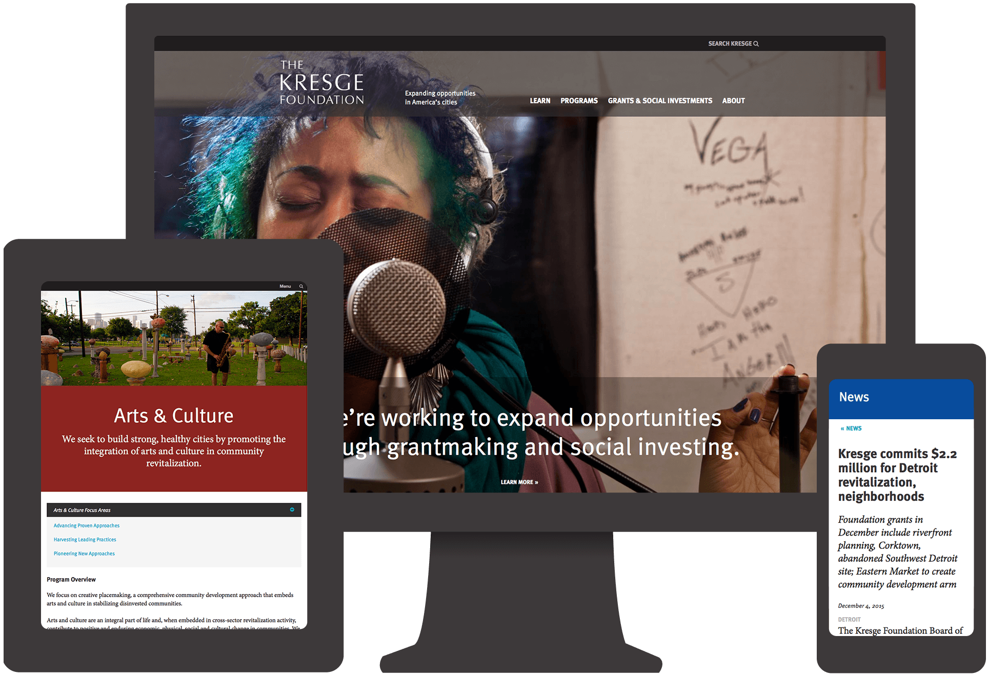 Kresge responsive website